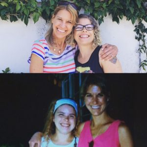 split photo Ramona and me